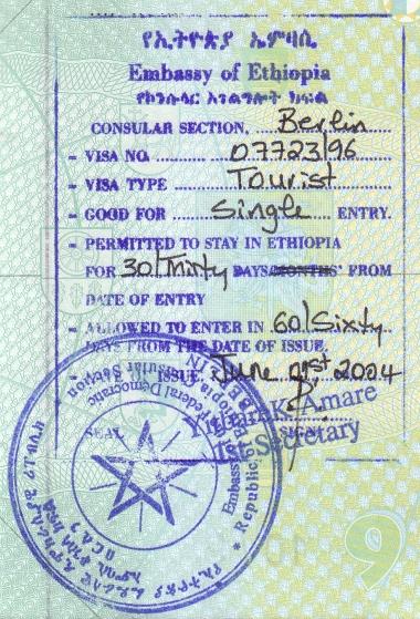 Ethiopian visa